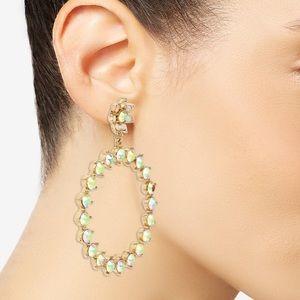 Betsy Johnson Bee mine gypsy hoop earrings